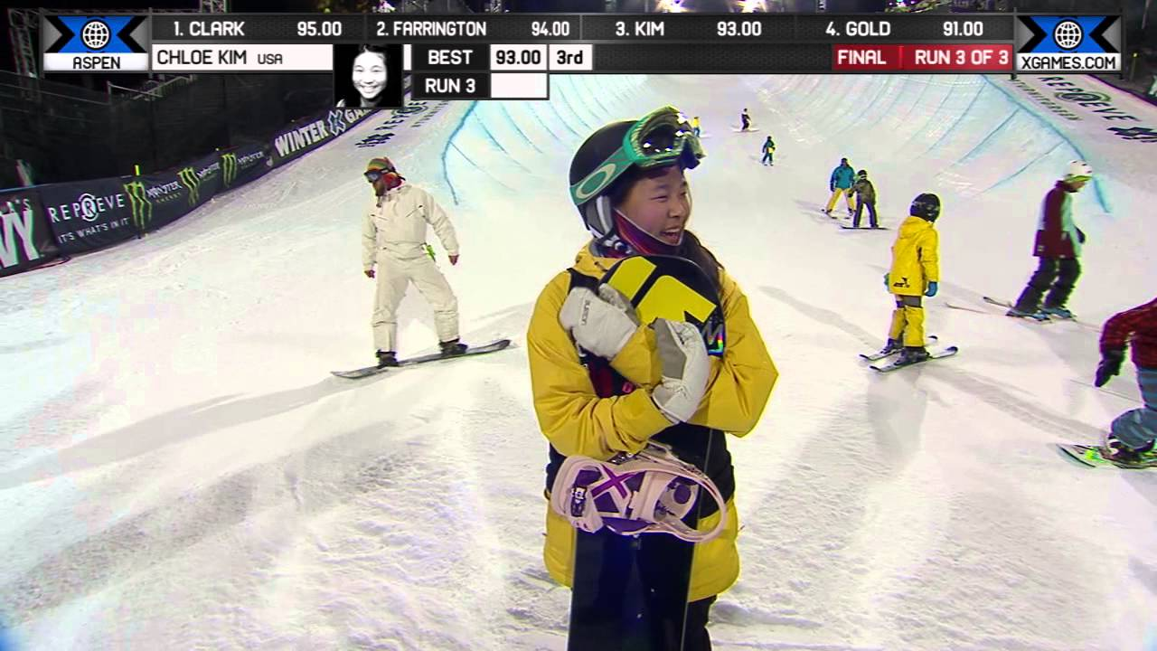 chloe kim wins silver in snowboard superpipe winter x
