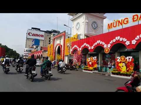 Tự Do, Nguyễn Huệ, Lê Lợi, Chợ Bến Thành,Saigon ,Jan.17.2017