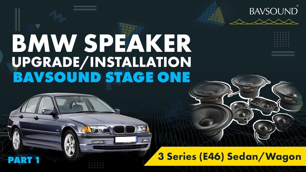 medium resolution of bavsound 1 3 bmw 3 series e46 sed wag speaker upgrade install 1 3 mov youtube