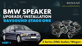 BAVSOUND - 1/3: BMW 3 Series (E46) Sed/Wag Speaker Upgrade Install 1/3.mov