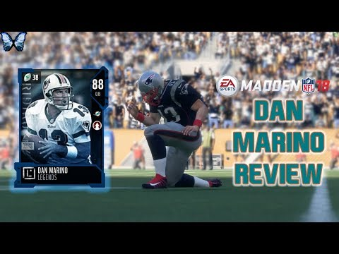 88 OVERALL DAN MARINO REVIEW   Madden 18 Player Reviews☆