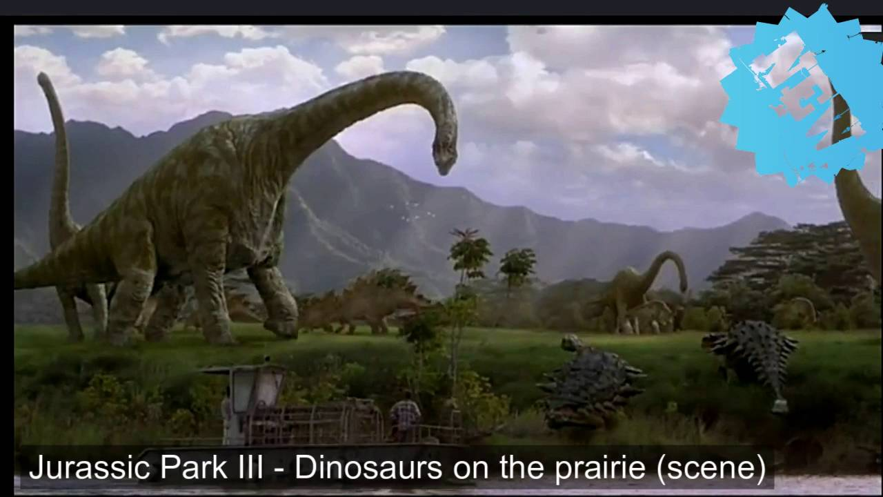 jurassic park 3 dinosaurs on the prairie scene youtube