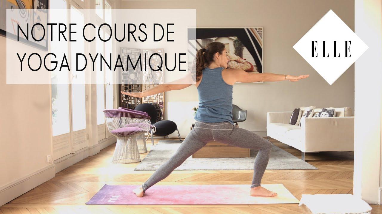 Notre cours de yoga dynamique┃ELLE Yoga - YouTube