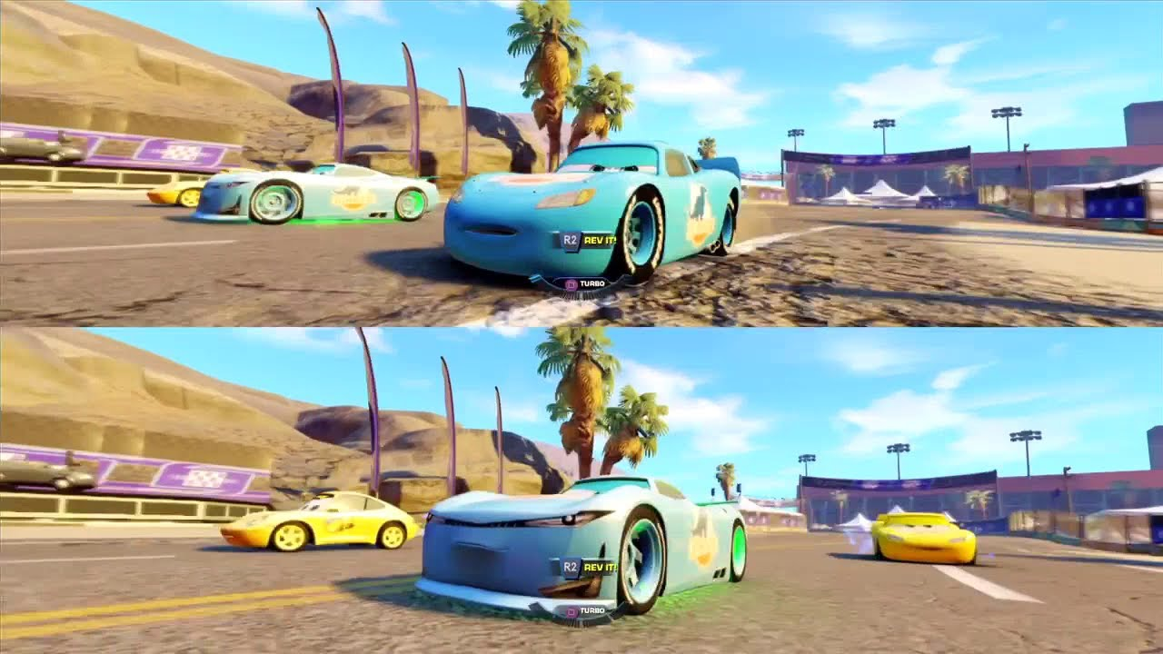 Cars 3 Driven To Win Ps4 Multiplayer Rookie Racing Cup Lightning Mcqueen And Cam Spinner Youtube