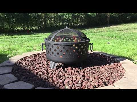 Landmann Garden Lights fire pit Model# 26374- UNBOXING, ASSEMBLY & FIRST IMPRESSIONS