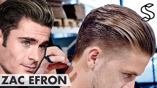 Zac Efron hairstyle - Slick pomade styling - Men's hair inspiration