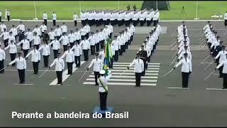 Eduardo e Jair Bolsonaro na formatura AFA em Pirassununga-SP