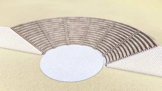 ArchiCAD 回転シェルで円形劇場の座席のようなもの / Something like Greek theater using  shell (revolved)