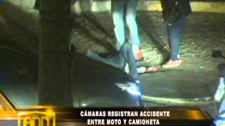CAMARAS DE SEGURIDAD CAPTAN ACCIDENTE EN  VICTOR LARCO
