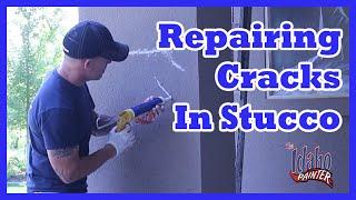 Painting Stucco & Repairing Cracks With Caulking & Elastomeric Paint