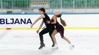 Василиса Кагановская Валерий Ангелопол Ритм танец Танцы на льду Любляна Гран при по фигурному