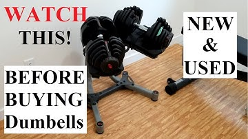 BEFORE Buying Adjustable Dumbbells New and Used WATCH THIS VIDEO! Bowflex 1090 Demo sample