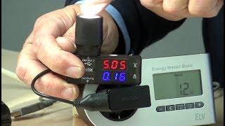 Stromaufnahme von Smart-Home-Geräten und Netzteilen im Leerlauf