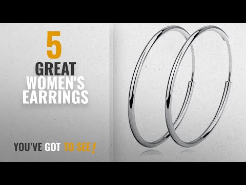 10 Best Earrings 925 Sterling Silver Hoop [2018]: YFN Unisex 925 Sterling Silver Polished Circle