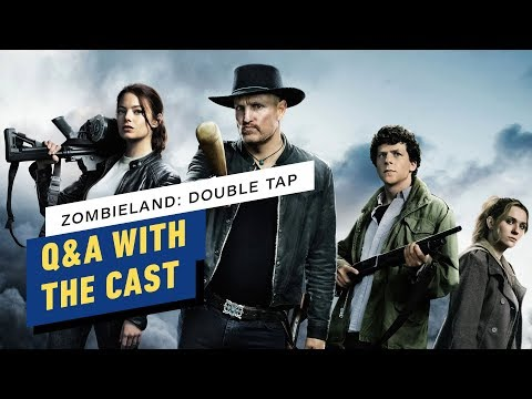 Zombieland: Double Tap Q&A With the Cast (Woody Harrelson, Emma Stone, Jesse Eisenberg) + vídeo
