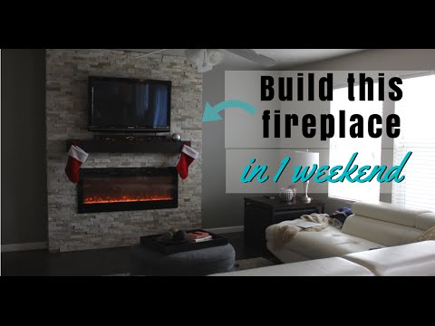 diy how to build a fireplace in 1 weekend youtube. Black Bedroom Furniture Sets. Home Design Ideas
