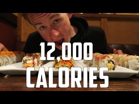 The AYCE SUSHI CHALLENGE | 12,000+ Calories!