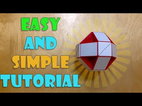 How To Solve Rubik's Snake Cube Puzzle Into A Ball (Thorough Tutorial) (24 Piece Snake Cube Only!)