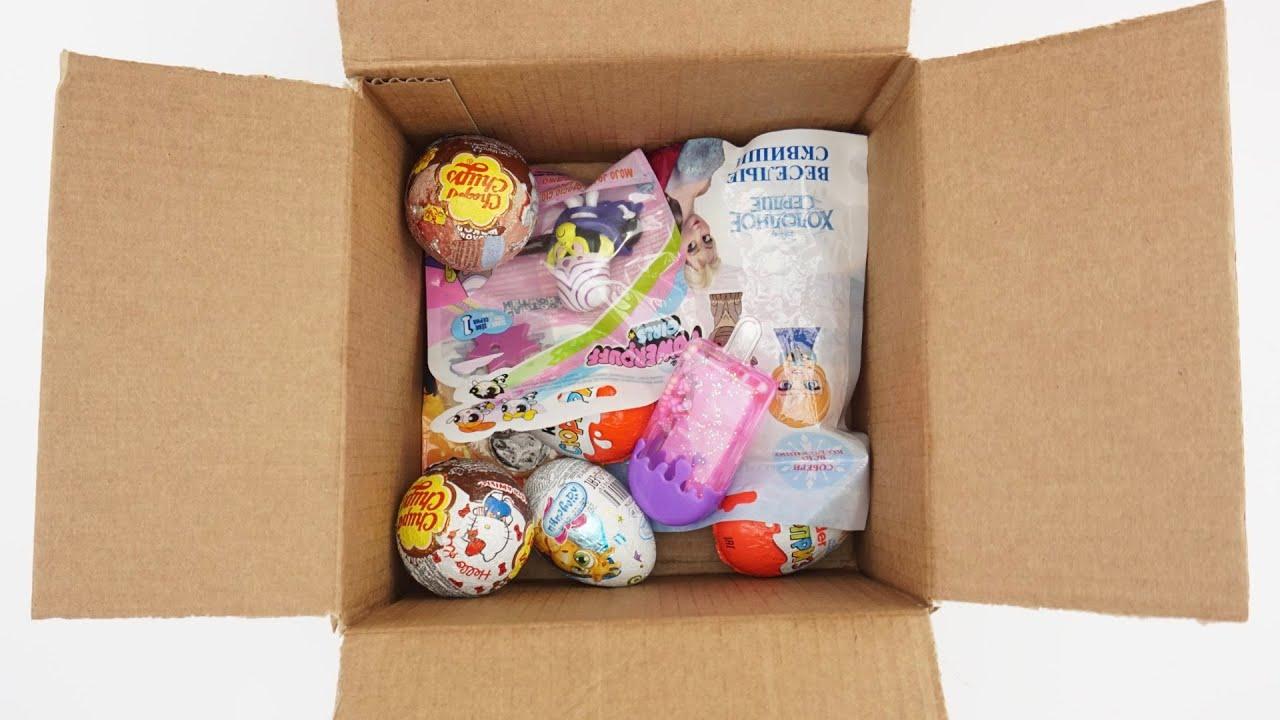 Посылочка с сюрпризами и игрушками из мультиков