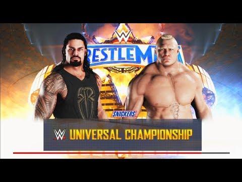 WWE-2K18-Roman Reigns vs. Brock Lesnar-WWE...