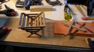 Building A Miniature Manger Christmas Decoration