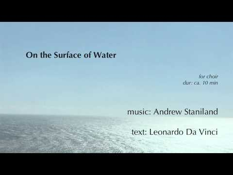 on the surface of water
