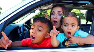 We are in the Car Wheels On The Bus Song + More Nursery Rhymes & Kids Songs