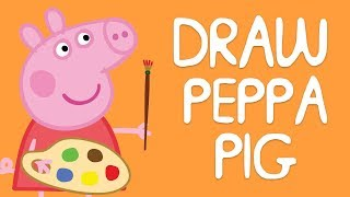 Peppa Pig - How to Draw PEPPA PIG and Family 🐽 Drawing for Kids - Learning with Peppa Pig thumbnail