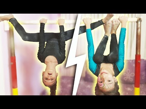 GYMNASTICS CHALLENGE | Ne-am JUCAT cu PRAF MAGIC | Uneven BARS Practice
