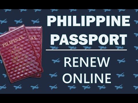 How can i renew my philippine passport online