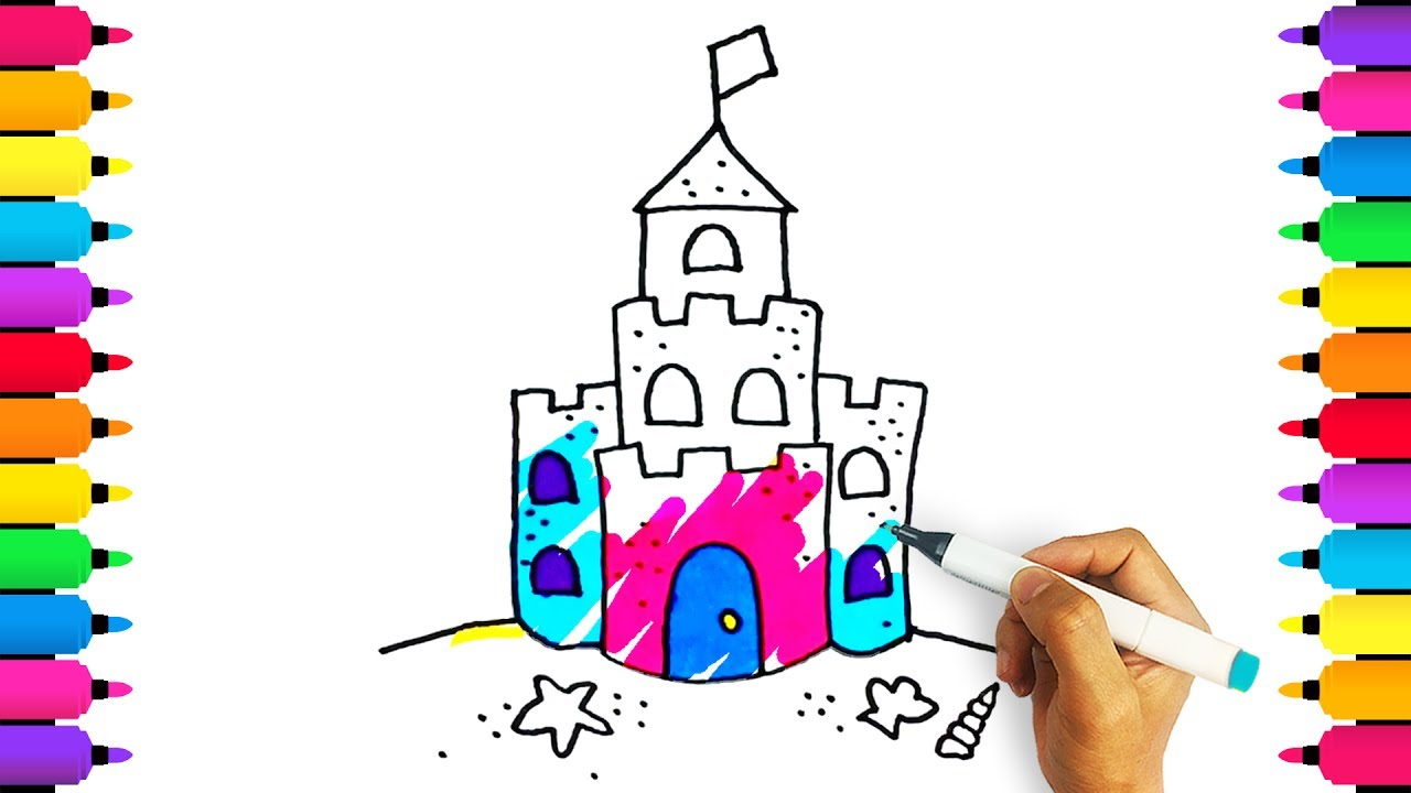 Sandcastle Coloring Page | Castle coloring page, Coloring pages ... | 720x1280