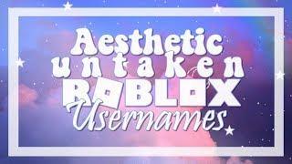 Aesthetic Untaken Roblox Usernames!