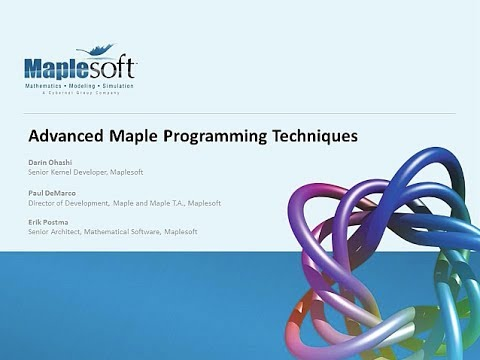 advanced maple programming techniques youtube rh youtube com Maple Calculus Software Maple Software S