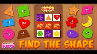 BINGO | Find the Shape for Kids | Free App from EduBuzzKids for iOS, Android Phones