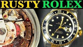 Restoration of Rusty Rolex - Water damaged 1996 GMT Master II│Nicholas Hacko Master Watchmaker