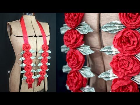 How to make a double ribbon money flower lei