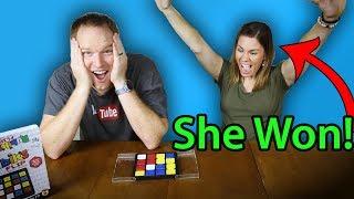 Rubik's Flip - Challenging  my Wife!