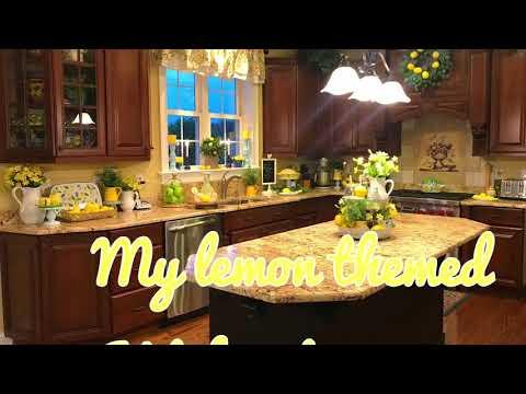 Lemon 🍋 🍋🍋 Theme kitchen Decor Tour