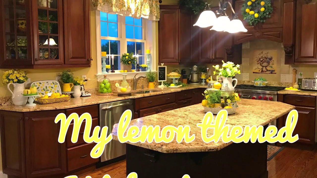 Lemon Theme Kitchen Decor Tour Youtube