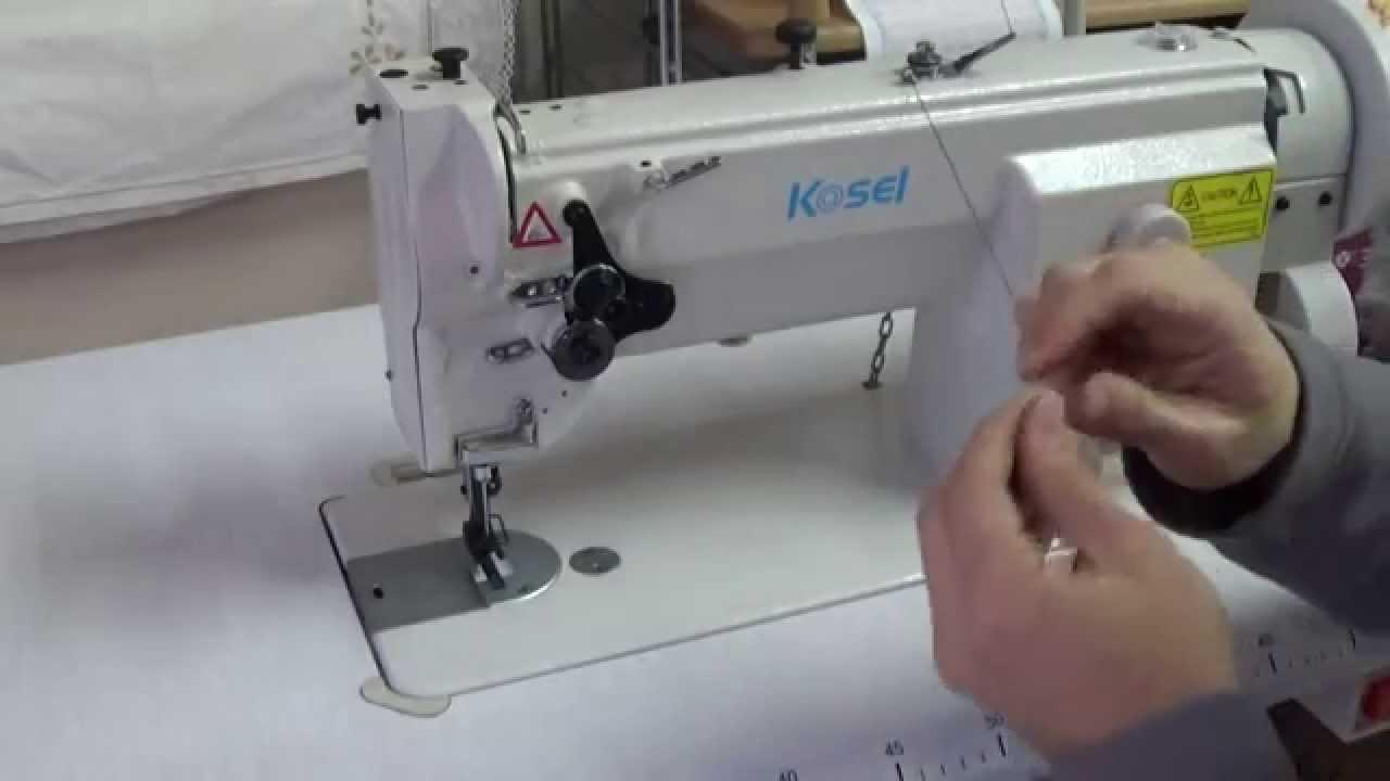 Como enhebrar una maquina de triple arrastre (KOSEL GC0628