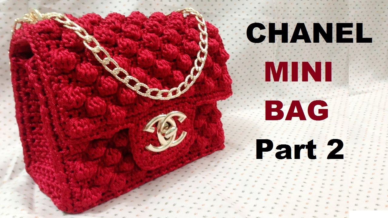 Crochet Book Cover Tutorial : How to crochet chanel mini bag part hướng dẫn móc túi