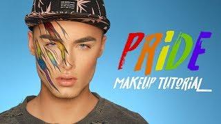 PRIDE Rainbow & Glitter Makeup Tutorial thumbnail