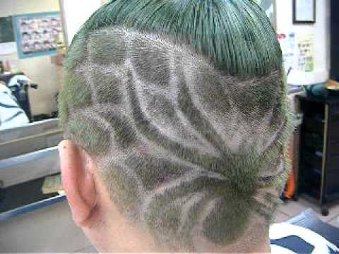 hairstyles MAN HAIRcut Spider and spider web  YouTube
