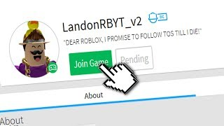 HOW TO JOIN LANDONRB'S GAME IN ROBLOX!