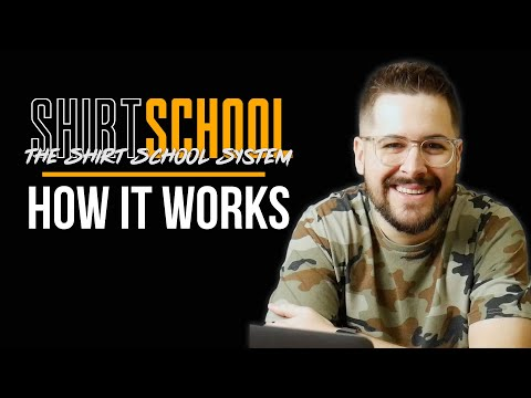 How To Make T-Shirts And Print On Demand Work For You | The Shirt School System