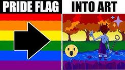 ARTIST TURNS LGBT PRIDE FLAGS INTO ART