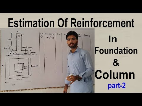 Estimation of Reinforcement in Foundation & Column