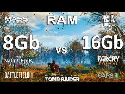 8Gb vs 16Gb RAM Test in 7 Games