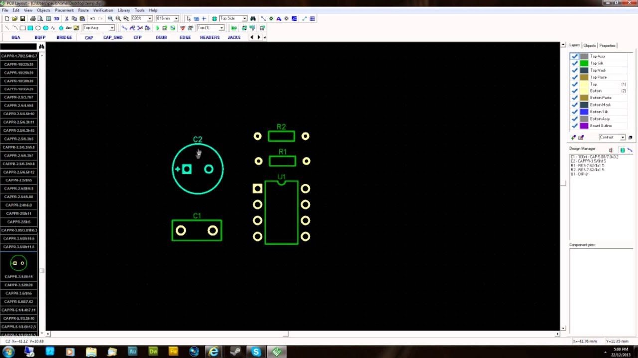 design your own guitar pedal pcb layout single sided part 1 youtube. Black Bedroom Furniture Sets. Home Design Ideas