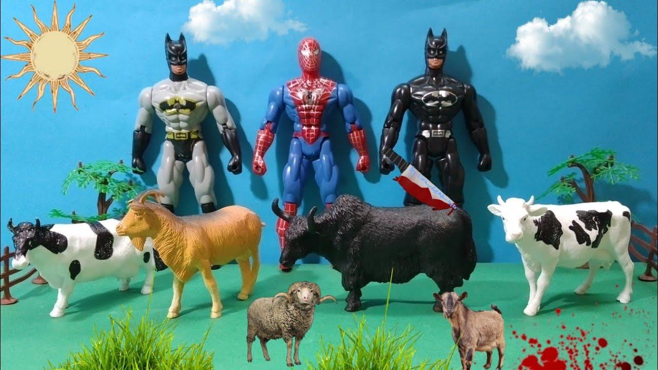 باتمان يشترى عجل العيد / spiderman and batman !! يوميات ملوكة